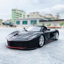 Модель автомобиля Bburago Ferrari 1:24 с имитацией высоты, литье под давлением, металлическая модель, детская игрушка, подарок для друга, коллекция автомобиля из искусственного сплава