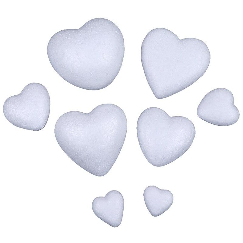 10 sztuk 3.5-10cm styropian styropian piankowa piłka biały Craft w kształcie serca dla DIY dekorację na imprezę świąteczną dostarcza prezenty