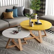 Оригинальные столы, комбинированный журнальный столик для гостиной, круглые столы из массива дерева, простые сборные столы для центра