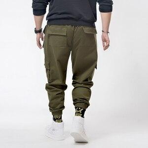 Image 2 - Plus  7XL 6XL Hip Hip Streetwear Mens Camouflage Joggers Pants 2020 Men Cargo Pant Trousers Elastic Waist Harem Pant Men