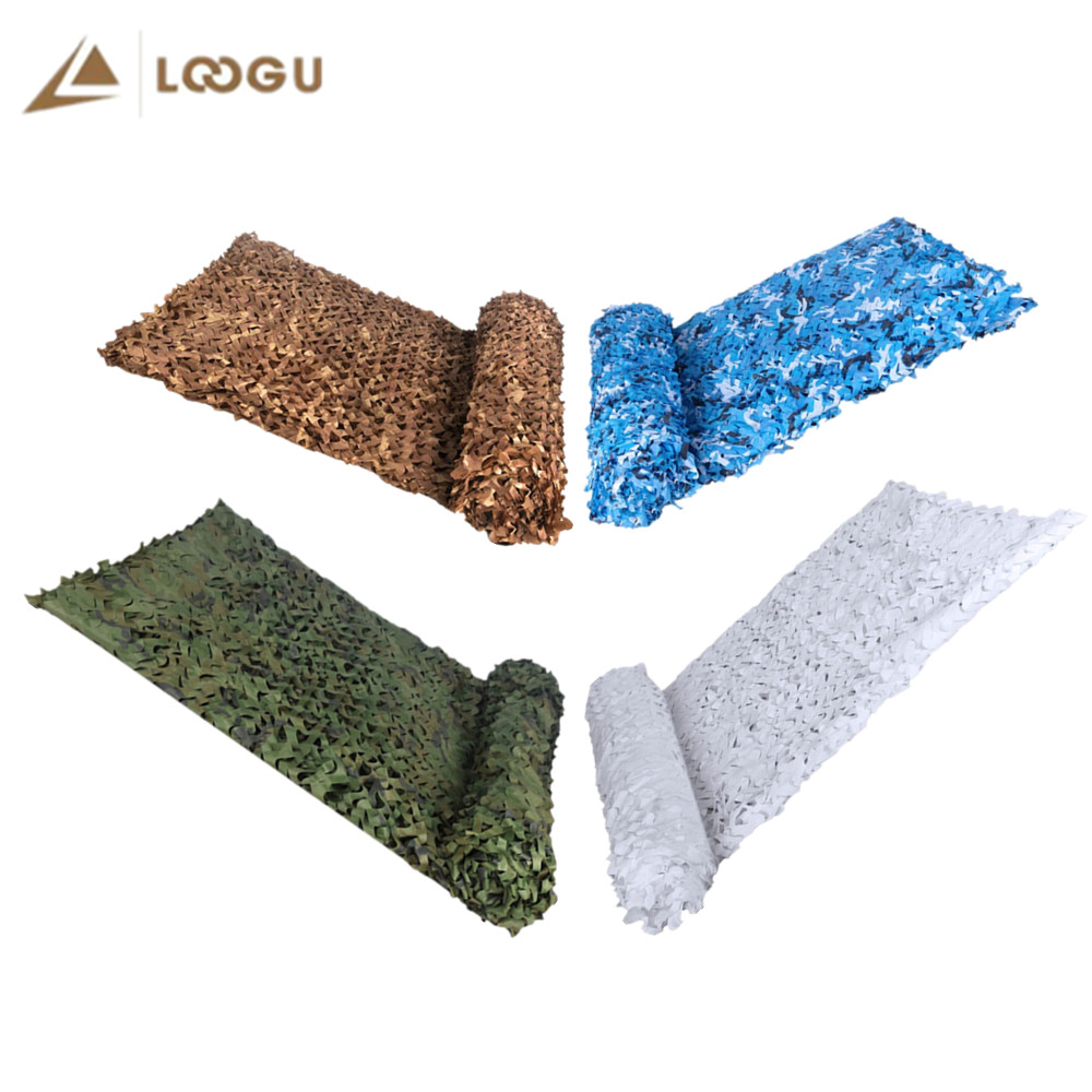 LOOGU Reinforced Camo Netting Military Army Hunting Camouflage Nets White Black Woodland Garden Shadow Outdoor Birding Hide Mesh