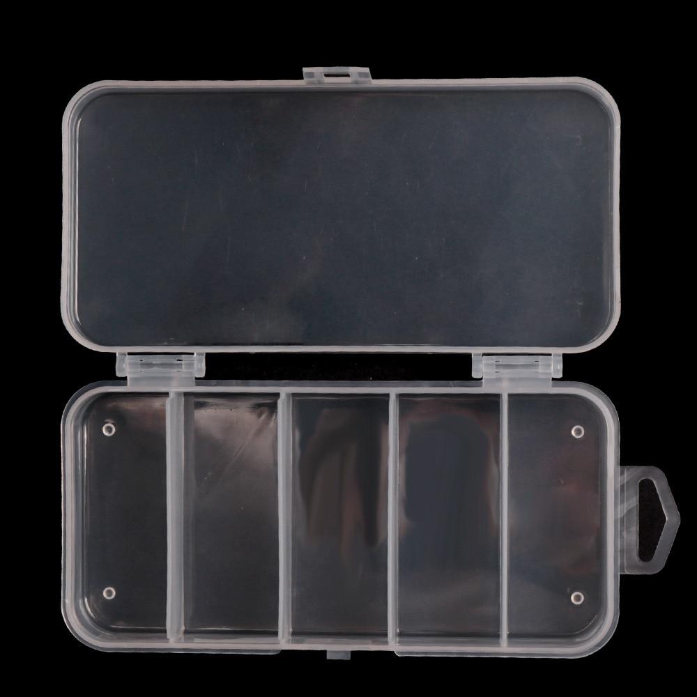 Small Five-box Fishing Gear Box Transparent PP Plastic Box Jewelry Accessories Box Storage Box Fishing Box Transparent Color