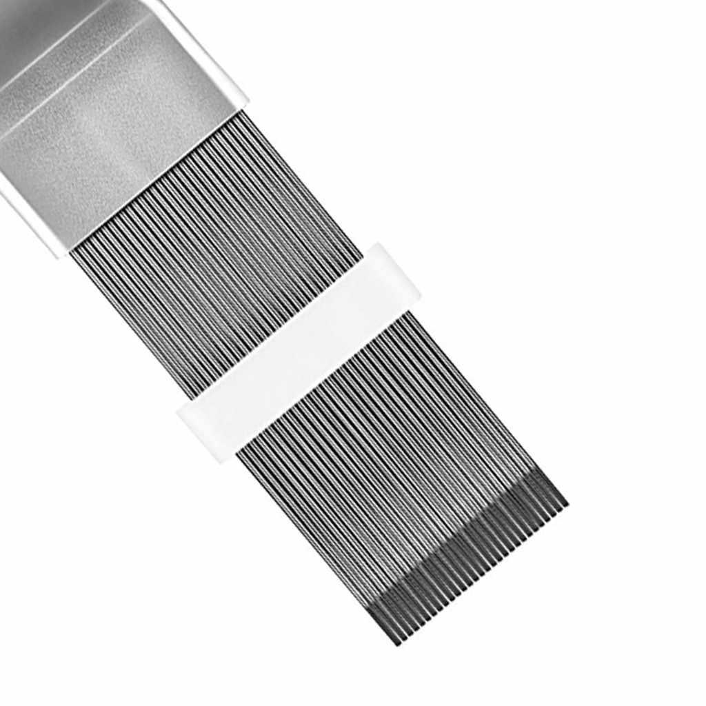 청소 도구 에어 컨디셔너 핀 수리 도구 코일 빗 A/C HVAC 콘덴서 라디에이터 범용 접이식 브러시 청소 도구