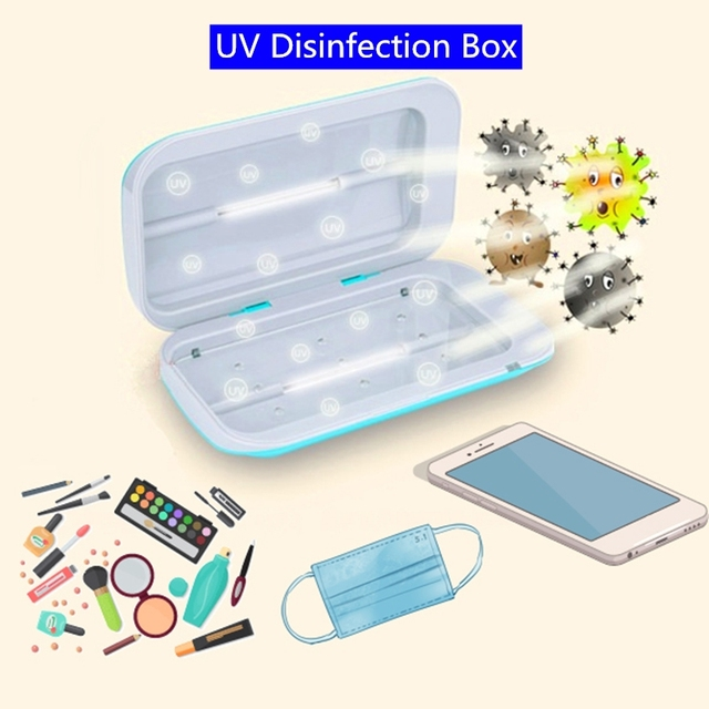 5W UV Sterilizer Disinfection Box Lamps Mask Toothbrush Jewelry Mobile Phone UV Sterilizer Box Household Cosmetic Sterilizer