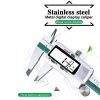 150MM/6inch Precision Electronic Digital LCD Vernier Caliper Tool Ruler Measuring Tools Gauge Stainless Steel|Thickness Detection Tool|Automobiles & Motorcycles -