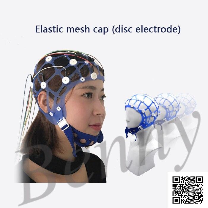 EEG Topographer Hat Rubber Band Hat Disc Electrode Cap EEG Electrode Fixed Cap EEG Accessories
