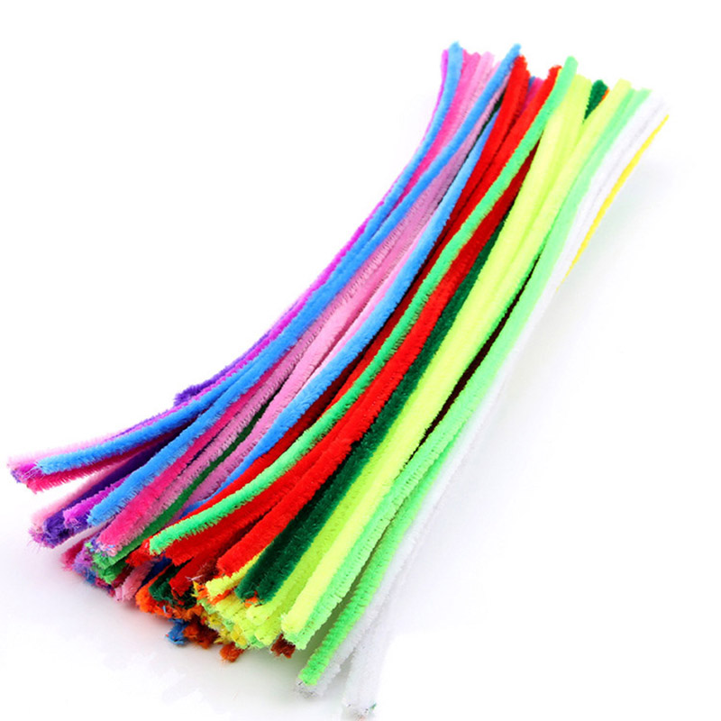 100Pcs Novelty Toys DIY Handmade Educational Plush Shilly Stick Materials Toys Art Craft For Children Kids Toy