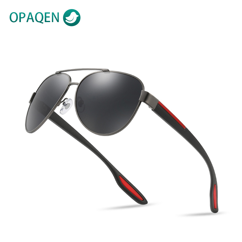 OPAQEN Polarized Sunglasses Fashion Oval Eyewear UV400 Glasses Eyes Protect Men's Glasses Travel Driving Sun Glasses For Men