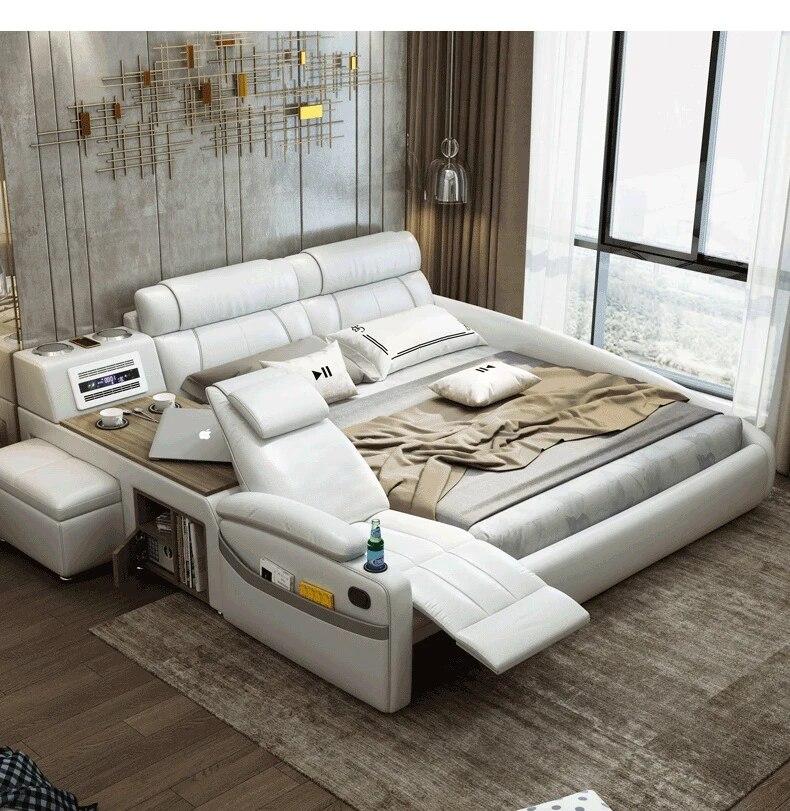 Smart Bed Frame Camas Bedroom Furniture Krovat Dvuspalnaya Lit Beds سرير Muebles De Dormitorio Mebel Bedroom Set Cama De Casa Beds Aliexpress