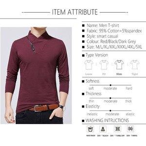 Image 5 - BROWONยี่ห้อเสื้อยืด2020ชายTshirtฤดูใบไม้ร่วงแฟชั่นเสื้อแขนยาวผู้ชายSlim Fit PlusขนาดM 5XLผ้าฝ้ายTเสื้อ