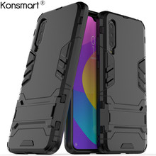 Case For Xiaomi Mi CC9 Shockproof Hard Plastic with Stand Dual Hybrid Back Cover A3 Lite CC 9 Fundas KONSMART