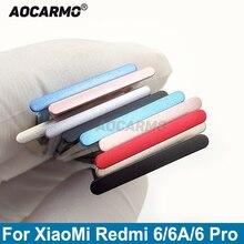 Aocarmo For XiaoMi Redmi 6 6A 6 Pro 6Pro Metal Plastic Nano Sim Card Tray MicroSD Slot Holder Replacement Part