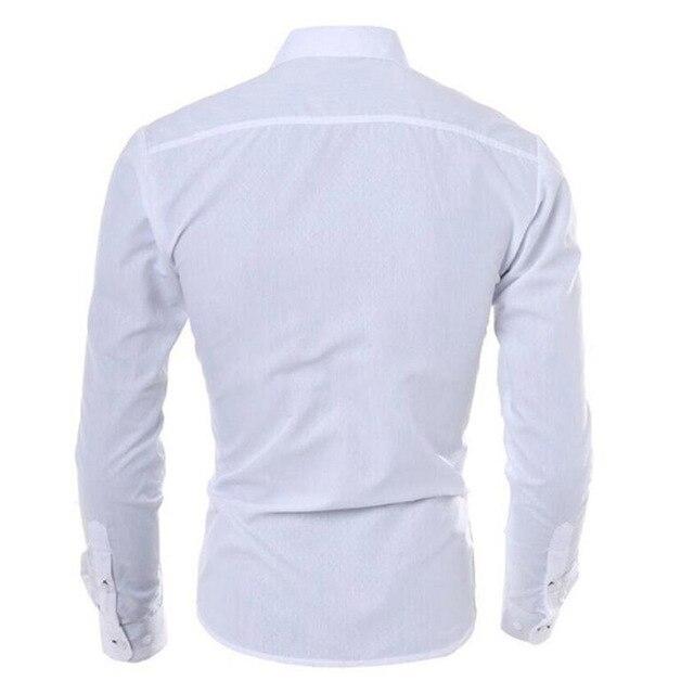 Мужская  деловая приталенная рубашка с длинными рукавами от vsego.su 2