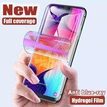 Film hydrogel Anti-rayons bleus pour Samsung Galaxy S20 fe S8 S9 S10 Plus Note 20 Ultra 10 Lite protecteur d'écran A51 A71 A50 A71 A30