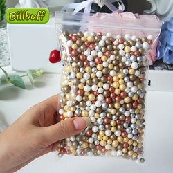 10g/bag DIY Addition for Slimes Warm Metallic Color Snow Particles Accessories Foam Beads Slimes Balls Supplies Charms Toys Gift