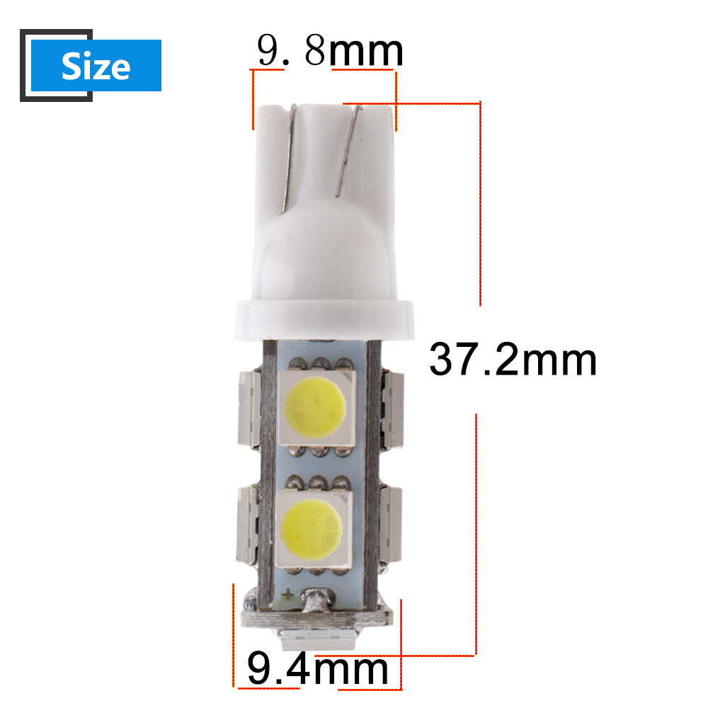 100pcs 24V T10 5050 9 SMD LED Bulbs Truck Car Door License Plate Clearance Lights White Blue Red Green Amber Pink mix in Signal Lamp from Automobiles Motorcycles