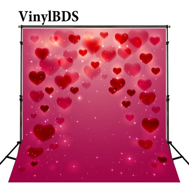 VinylBDS 10X10FT Da Sposa Rosso Photocall San Valentino Sfondi Brillante Bokeh Photo Romantico Fondali di Nozze per Lo Studio VinylBDS Shop Store