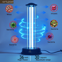 36W UVC Sterilizer Kill Dust Mite Eliminator UV Quartz Lamp For Bedroom Hospital Disinfection Lamp Kill Bactericidal Light