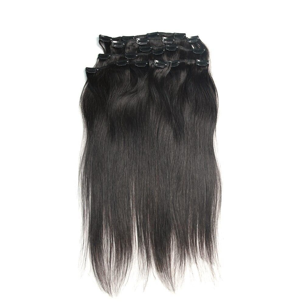 Grampo em extensões de cabelo humano cabeça