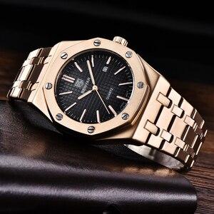 Image 2 - BENYAR Mens Watches Top Brand Luxury Gold Watch Men Sport Military Wristwatch Men Quartz Business Watches Relogio Masculino 2019