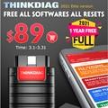 Thinkdiag 1 год бесплатного программного обеспечения 97986 OBD2, профессиональный диагностический инструмент, полная система кодирования ecu pk launch ...