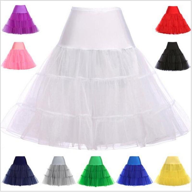 Boneless Petticoat Skirt For Women 63cm Short Pleated Wedding Skirt 50s Petticoat Skirt Rockabilly Crinoline Underskirts