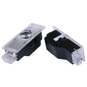 2 sztuk LED samochodów drzwiowe światło wejściowe wystrój dla Mini Cooper R50 R53 R55 R56 R58 R59 R60 F55 F56 F60 Logo na samochód dzięki uprzejmości lampa projektorowa tanie i dobre opinie CN (pochodzenie) Lampa atmosfera 70 cm Car door decor light for mini cooper Car led lamp Car interior light Car accessories