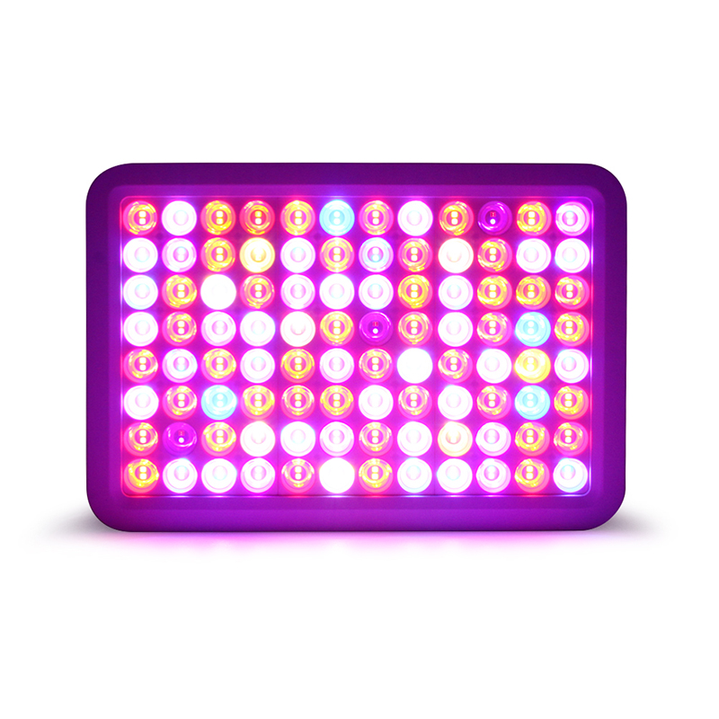 Dual Channel Dimming 32×3 Multispectral Square Plant Light LED Plant Light 600W For Indoor Plant And Flower Planting