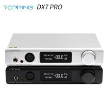 TOPPING DX7 Pro ES9038Pro DAC & Headphone amp Bluetooth 5.0 32BIT/768kHz DSD1024 DX7PRO Wireless Decoder Headphone Amplifier(China)