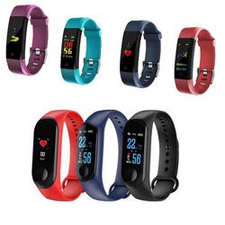 ID115 PLUS M4 Smart Band Wristband Heart Rate/Blood/Pressure/ Smart Bracelet Monitor/Pedometer Fitness Waterproof Color Screen