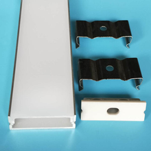 free shipping milky transparent cover led channel aluminum led strip enclosure housing extrusion profile with end caps and clips