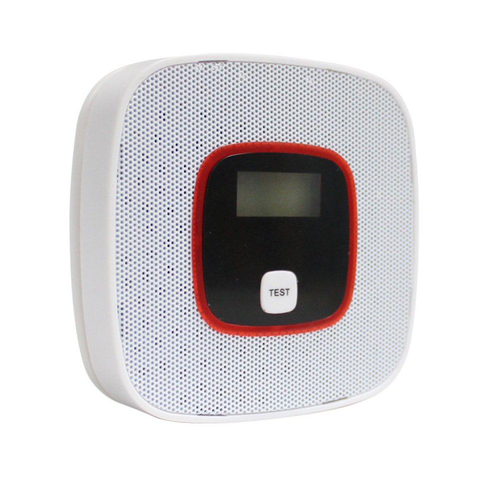 LCD Display Carbon Monoxide Detector CO Gas Alarm Sensor Poisoning CO Gas Tester Human Voice Warning Detector For Alarm System