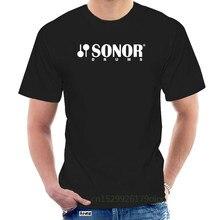 Sonor – t-shirt à manches courtes pour homme, avec Logo tambour, noir, @ 074281