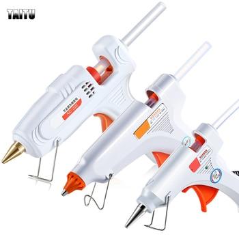 DIY Hot Melt Glue Gun Smart Temperature Control Copper Nozzle Heater Heating Wax 11mm Glue Stick Glue gun Repair Heat Tools