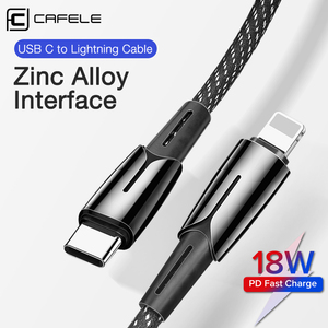 CAFELE USB C to for Lightning Cable 18W Quick Charging & Syncing Cord Compatible PD Cable for iPhone 11 pro xs max xr 7 8 Plus|Mobile Phone Cables|   -
