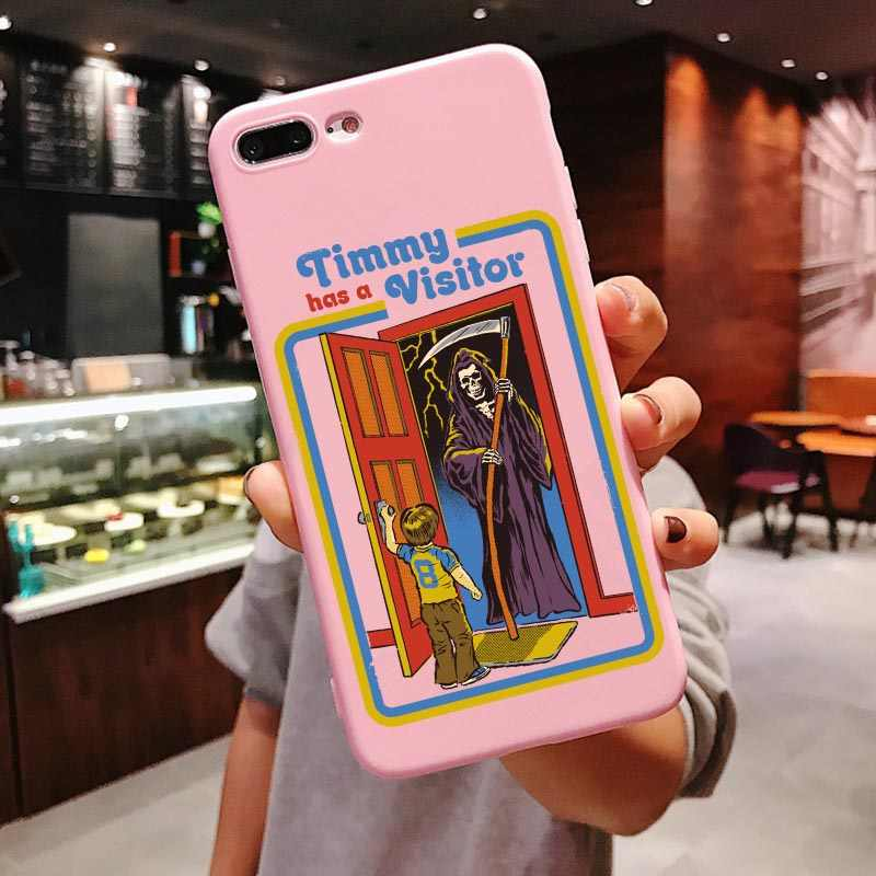 Funny Halloween Satan Vintage Let S Summon Demons Graphic Pink Silicone Phone Case For Iphone 11 Pro Max 2019 X 6 6s 7 8 Plus
