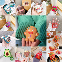 Custodie per cuffie in Silicone 3D Gingerbread Man in Silicone per Apple Airpods 1 2 custodia per cuffie Funda