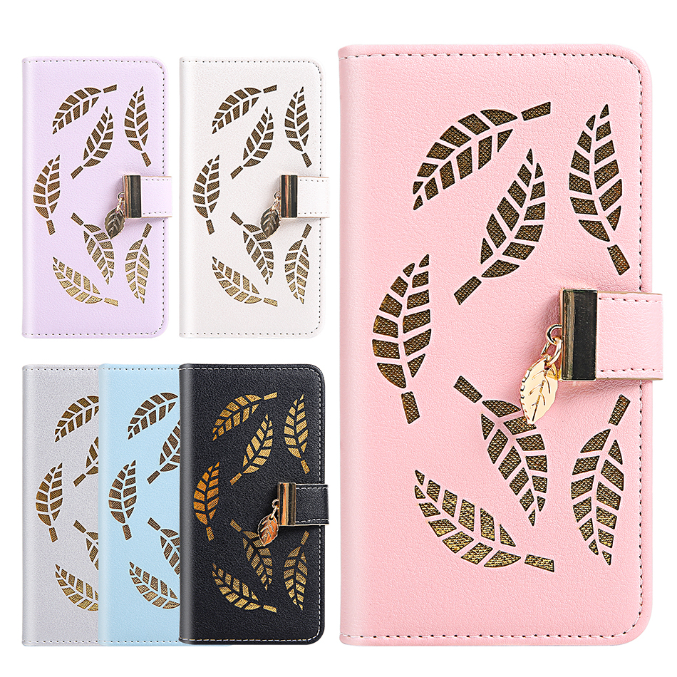 Golden Leaf Flip Case For <font><b>Nokia</b></font> 3.1 Plus Coque Phone Cover For <font><b>Nokia</b></font> 2.2 3.2 4.2 <font><b>Fundas</b></font> For <font><b>iPhone</b></font> 11 Pro max Cases 7 <font><b>8</b></font> Plus 6s image