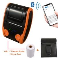 Lightweight Mini Portable Wireless 4.0 Bluetooth 58mm Thermal Receipt Ticket Printer for Mobile Phone Bill Machine