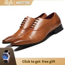39 46 فستان رجالي مريح رسمي أوكسفورد أحذية من الجلد الرجال #3731