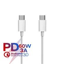 USB C şarj veri kablosu için Apple iPad Macbook Pro Huawei Xiaomi Samsung cep telefonu PD hızlı şarj USB C güç kablosu