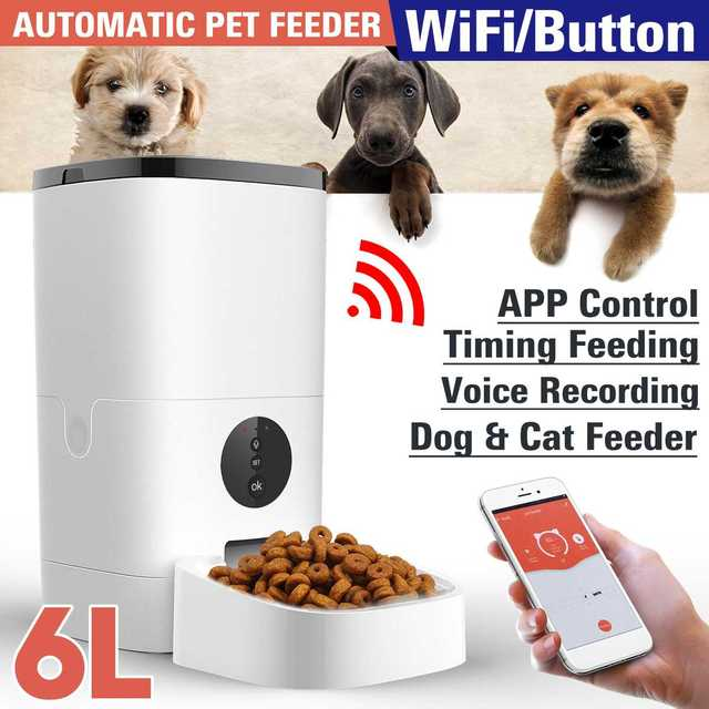 6L Large Capacity Pet Automatic Feeder Smart Voice Recorder   1