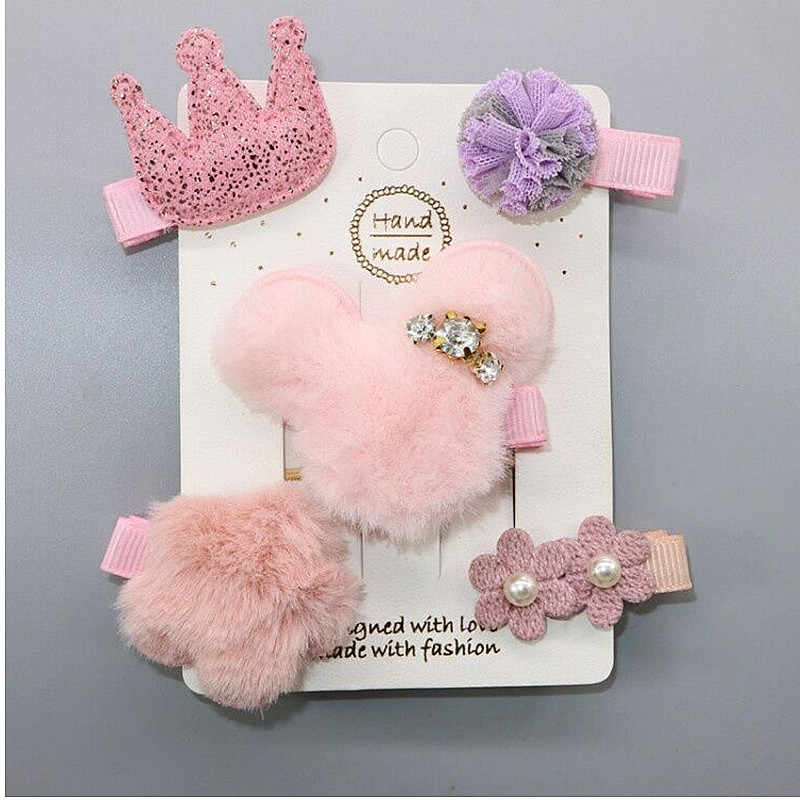 Neue 5 teile/satz Kinder Barrettes Haarnadeln Bär Liebe mädchen haar bögen kinder sterne haar clips für mädchen kinder haar Zubehör