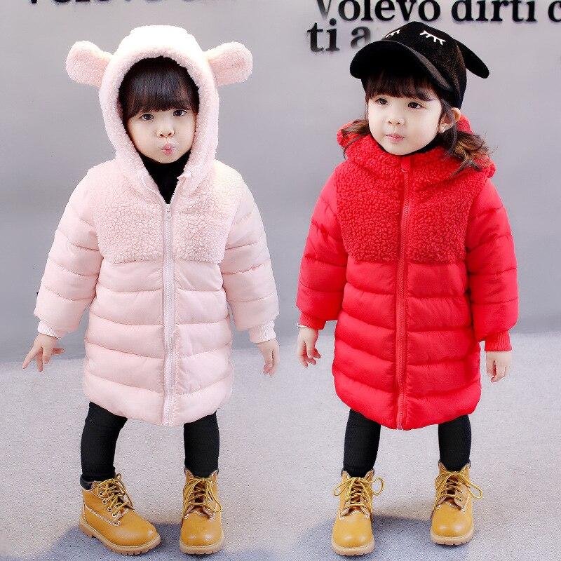 Winter Warm Cotton Baby Girls Coat Kids Velvet Thickening Outwear Children Boys 0-3Years