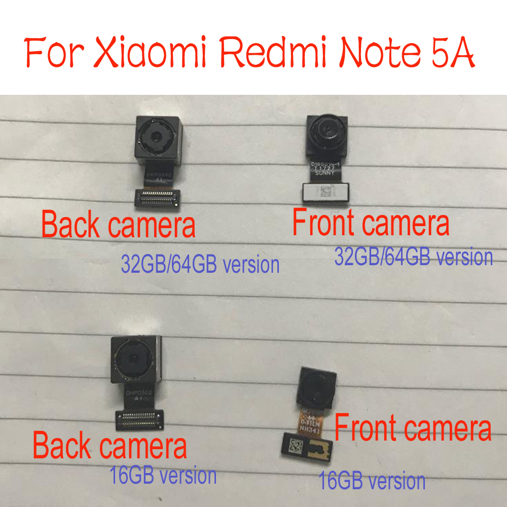 Original Redmi Note 5A Rear Back Camera / Small Facing Front Camera For Xiaomi Redmi Note 5A Prime Pro Replacement Parts