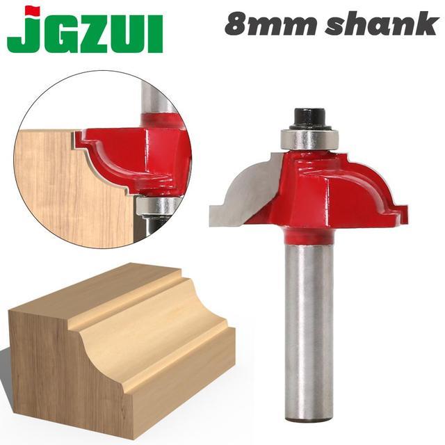 Mèche de défonceuse à extrémité droite pour fraise à bois, pièce de 8mm