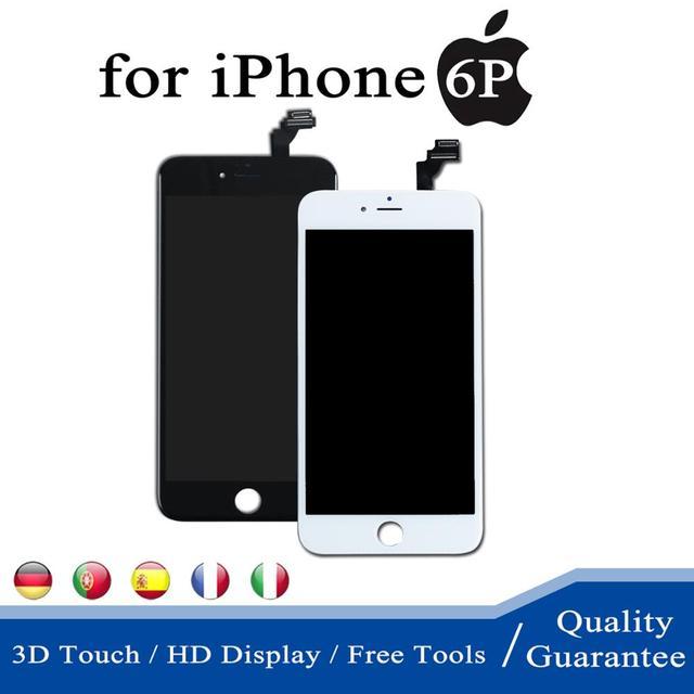 100% נבדק AAA LCD תצוגת 5.5 אינץ עבור iPhone 6 בתוספת מסך מגע Pantalla Digitizer 6 בתוספת מלא החלפת עצרת + כלים