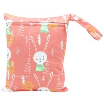 20*25cm Mini Diaper Wet Bag Single Pocket Zipper Baby Bags For Mom Maternity Travel Stroller Bag PUL Nappy Diaper Bag Wetbag - AS-MB-11