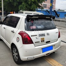 Para suzuki swift spoiler b 2008-2015 abs plástico sem pintura cor traseira do telhado spoiler asa tronco lábio boot capa estilo do carro(China)