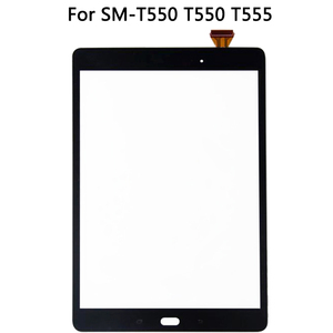 Image 2 - الأصلي لسامسونج غالاكسي تبويب E SM T550 T550 T555 شاشة إل سي دي باللمس شاشة الاستشعار الزجاج لوحة مرقمة T550 LCD لوحة اللمس